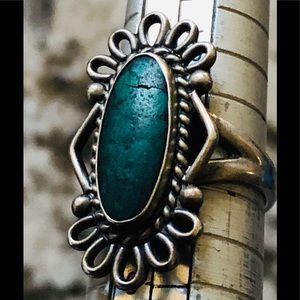VINTAGE STERLING TURQUOISE RING